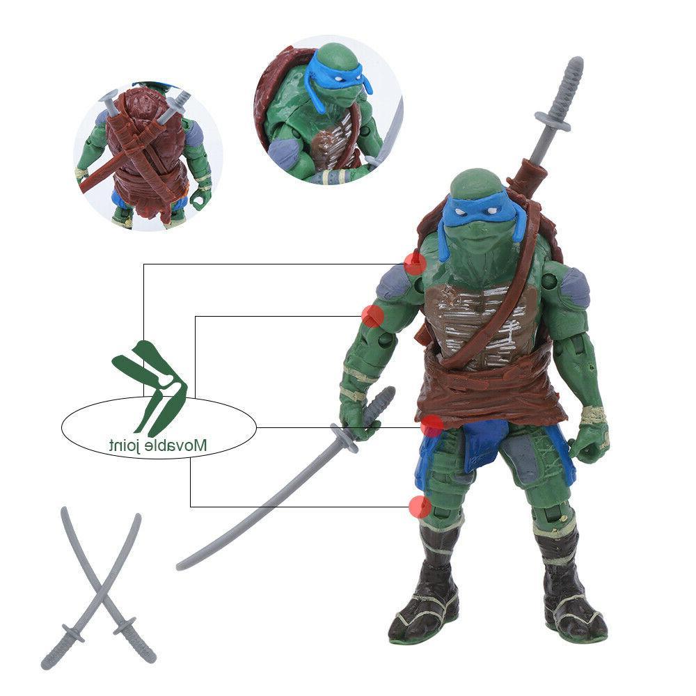 """4PCS Turtles 4"""" Action Figure Toys"""
