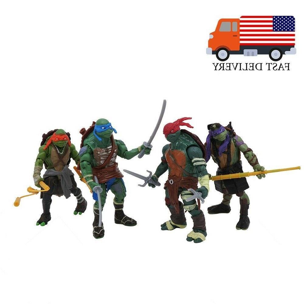 4pcs teenage mutant ninja turtles movie 4