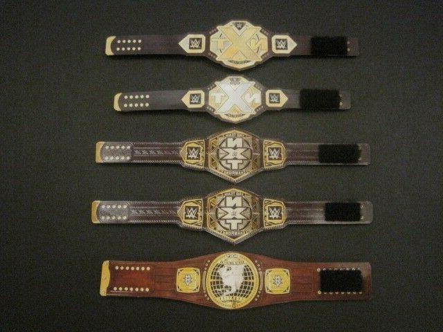 5 NXT Custom Wrestling Figure Belts WWE WWF