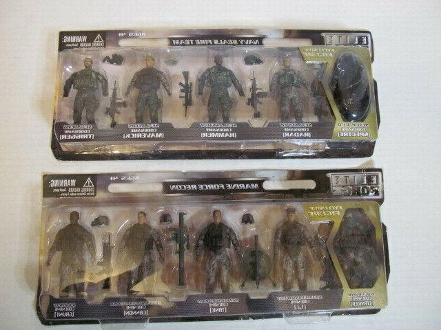 5 person action figures navy seal fire