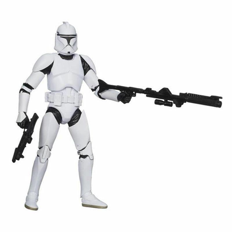 """6"""" Black Wars Action Vader Stormtrooper"""