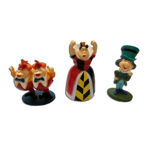 6 PCS Alice Wonderland Hatter Action Doll Cake Topper