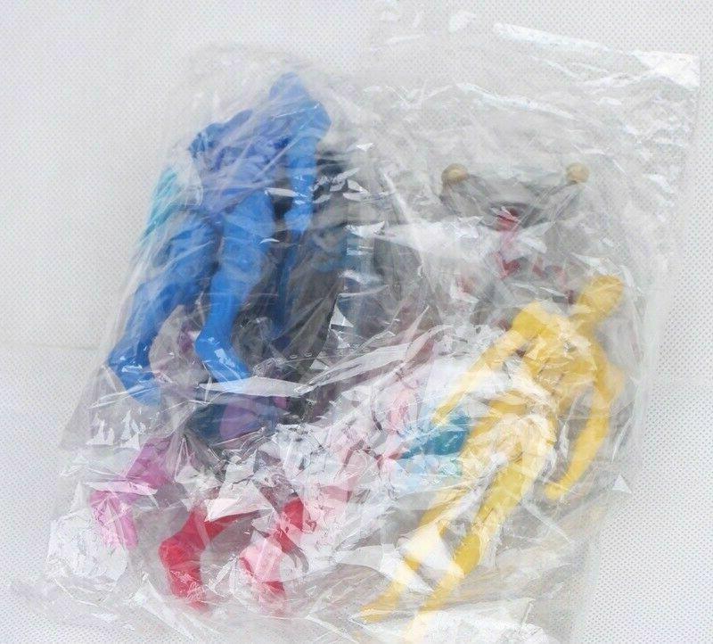 6 Pcs Action Blue Pink Set Toys