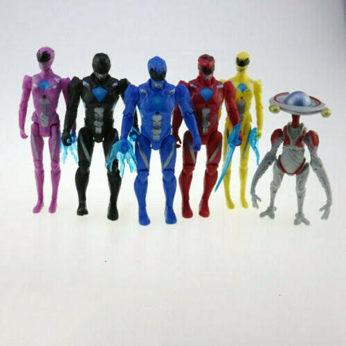 USED 6pcs Power Action Black Red Blue Yellow Party Toy