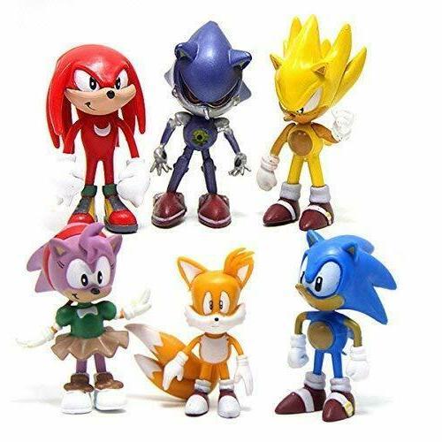 6 Sonic Hedgehog Figures Cake Toppers USA