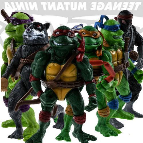 6pcs teenage mutant ninja turtles action figures