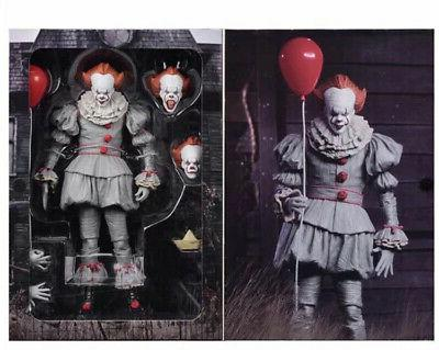 """New 2017 Scale IT Ultimate Pennywise Clown Action 7"""" Figure"""