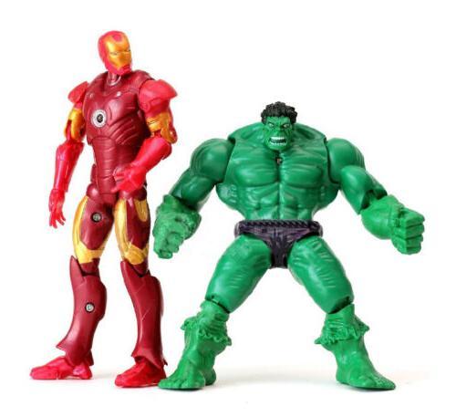 7 PCS Hulk+Captain America+Black Figure