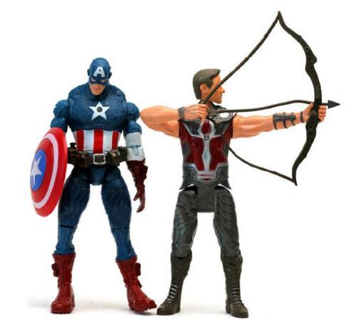 7 Avengers Hulk+Captain Widow+Iron Man+Thor Figure