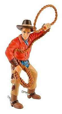 Bullyland 80673 Cowboy with Lasso 4 11/16in Western