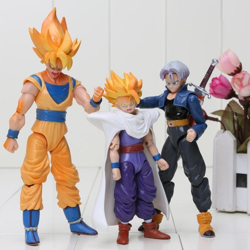 8pcs/set Dragon Piccolo Goku Trunks <font><b>Figure</b></font> Toys