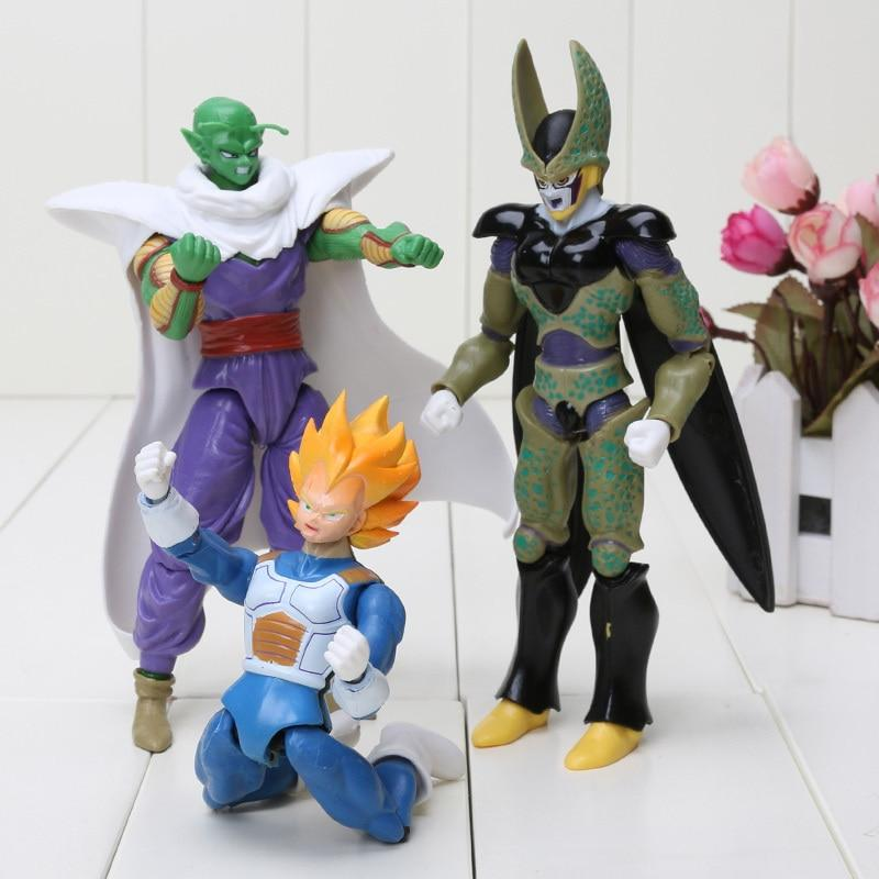 8pcs/set 6pcs/set Dragon Ball Z Joint Piccolo Goku Trunks PVC <font><b>Action</b></font> <font><b>Figure</b></font> Toys
