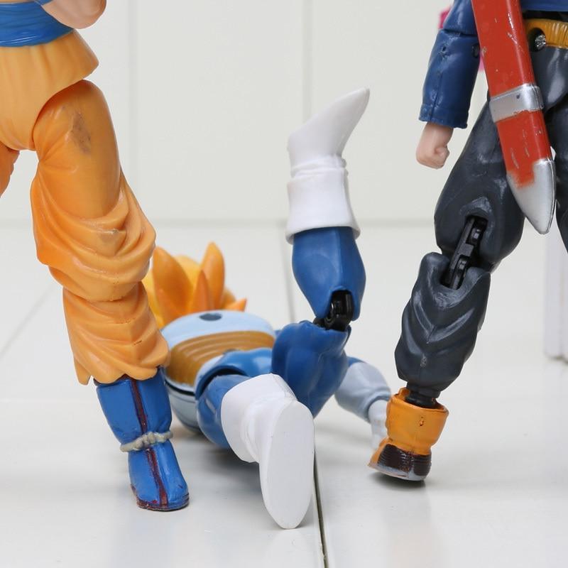 8pcs/set 6pcs/set Z Movable Piccolo Son Gohan Son Goku Trunks <font><b>Figure</b></font>