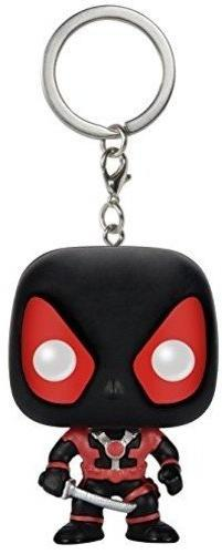 Funko POP Keychain: Marvel Black Suit Deadpool Action Figure