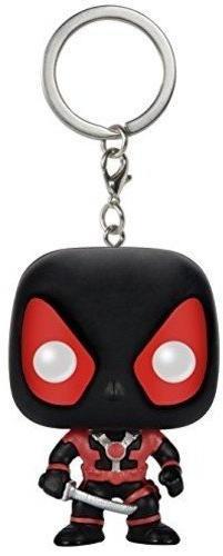 Funko POP Keychain: Marvel Black Suit Deadpool Action Figure