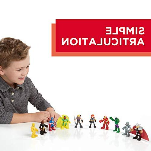 Playskool Heroes Marvel Hero Adventures Hero Set, Collectible 2.5-Inch Action Figures, Toys for Kids 3 and