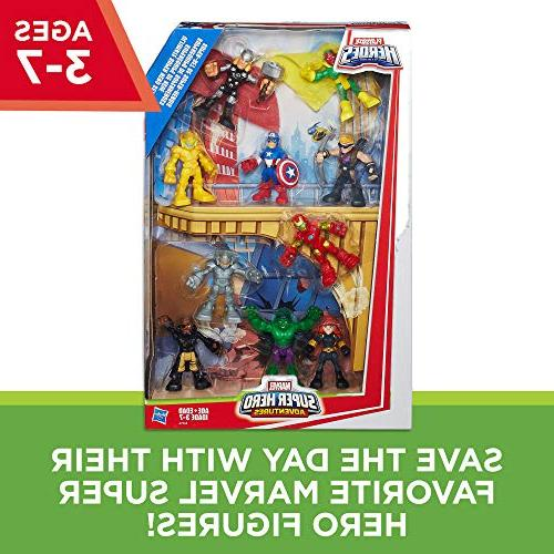 Playskool Heroes Super Hero Adventures Ultimate Hero 10 Collectible 2.5-Inch Toys for Ages