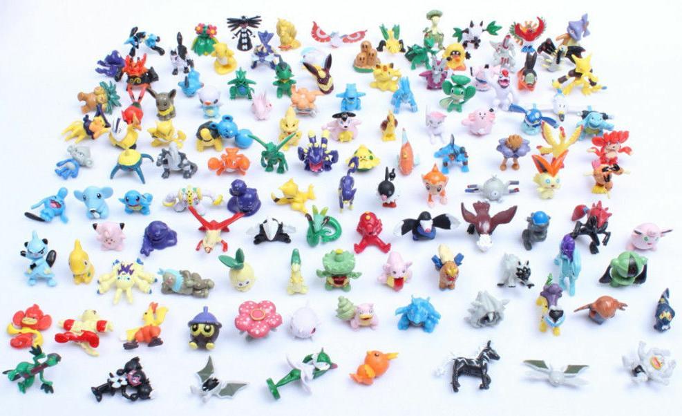 Lots 72pcs Pokemon Toys Mini Action Figures Toys 2-3cm Size