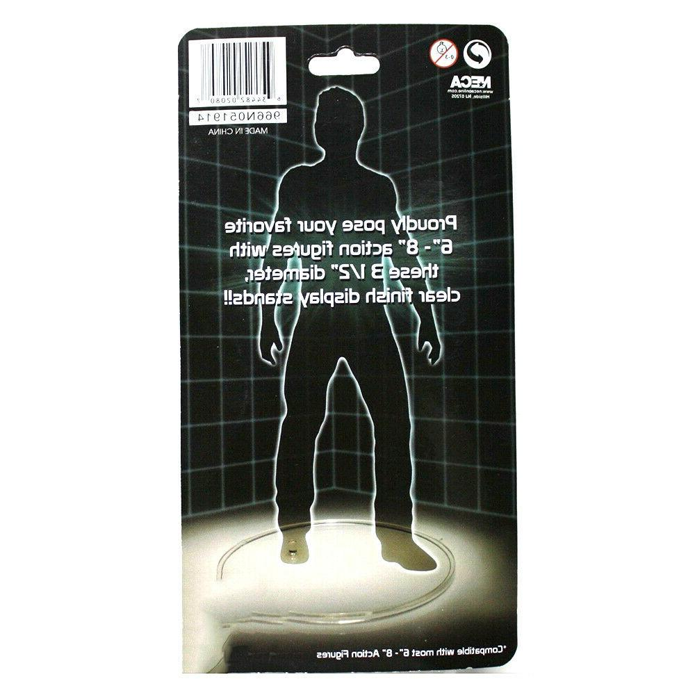 "Action Figure Stand Neca 10/Pack Compatible 6 8"" - Clear"