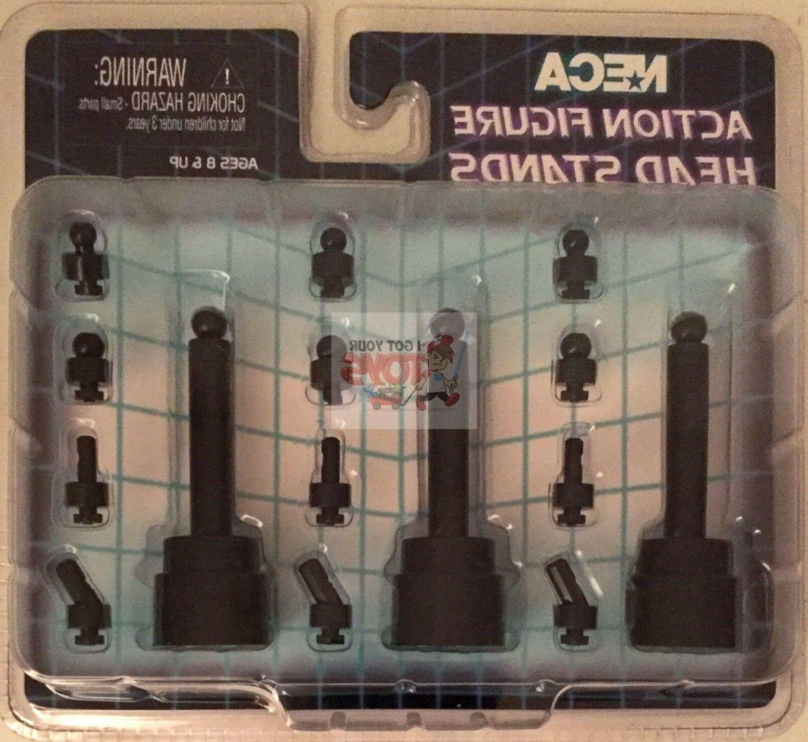 action figure head stands black 3 inch