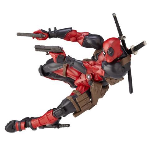 Amazing Marvel Revoltech Kaiyodo DEADPOOL X-Men Figure Toy