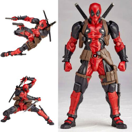 X-Men Amazing Marvel Revoltech Toy Gift DEADPOOL Action Figure Yamaguchi-style