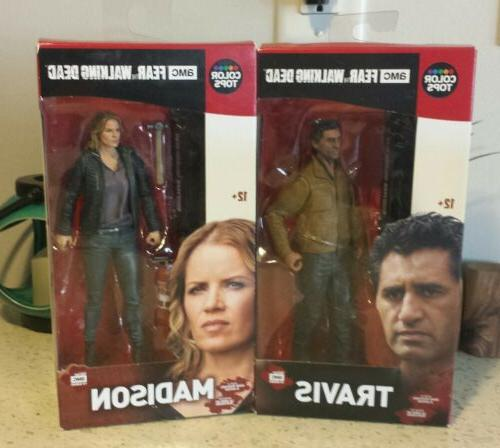 "McFarlane AMC FEAR THE WALKING DEAD 7"" Travis & Madison Acti"