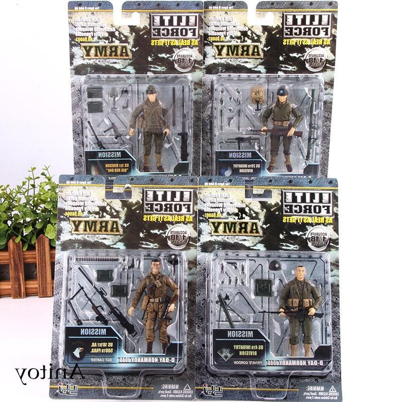 Army Soldiers <font><b>Action</b></font> With Military <font><b>Elite</b></font> <font><b>Force</b></font> Model Toy 4pcs/set