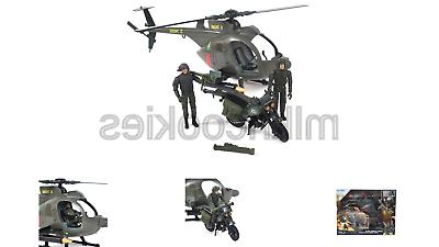 Elite Force Army Strike MH-6 Spec Ops Little Bird Vehicle wi