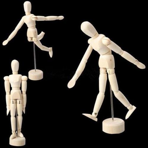 artist male wooden figure model