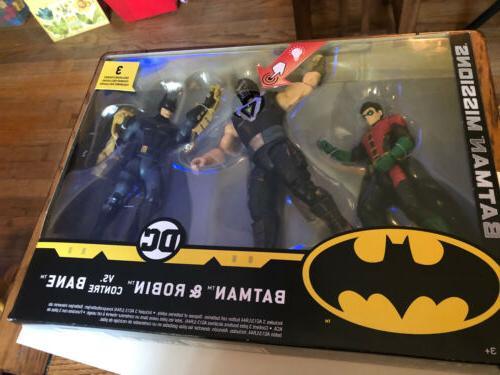 "Batman: Knight Missions ~ 6"" BATMAN & ROBIN vs. BANE DELUXE"