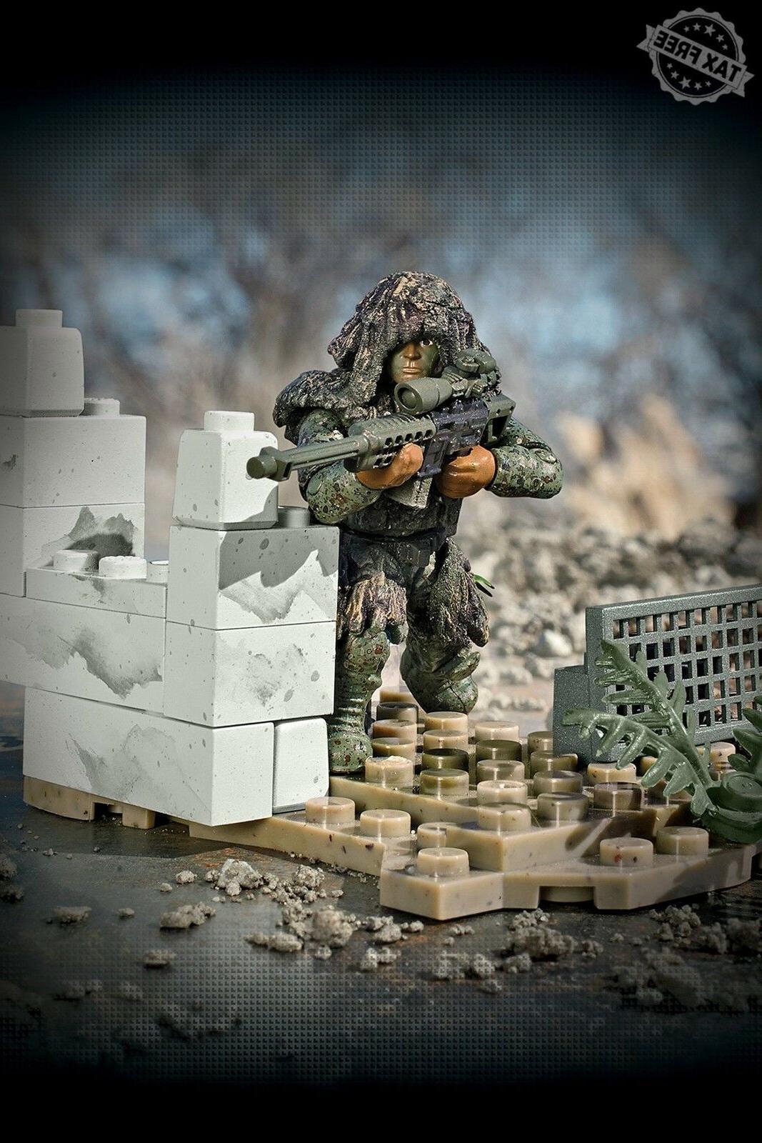 Mega Bloks Duty Figure Ghillie Sniper