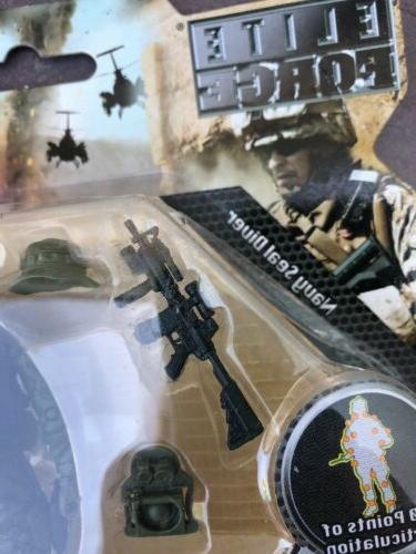ELITE FORCE FORG Military Action Figure NAVY SEAL DIVER Troop