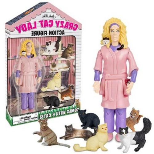 crazy cat lady collectible novelty