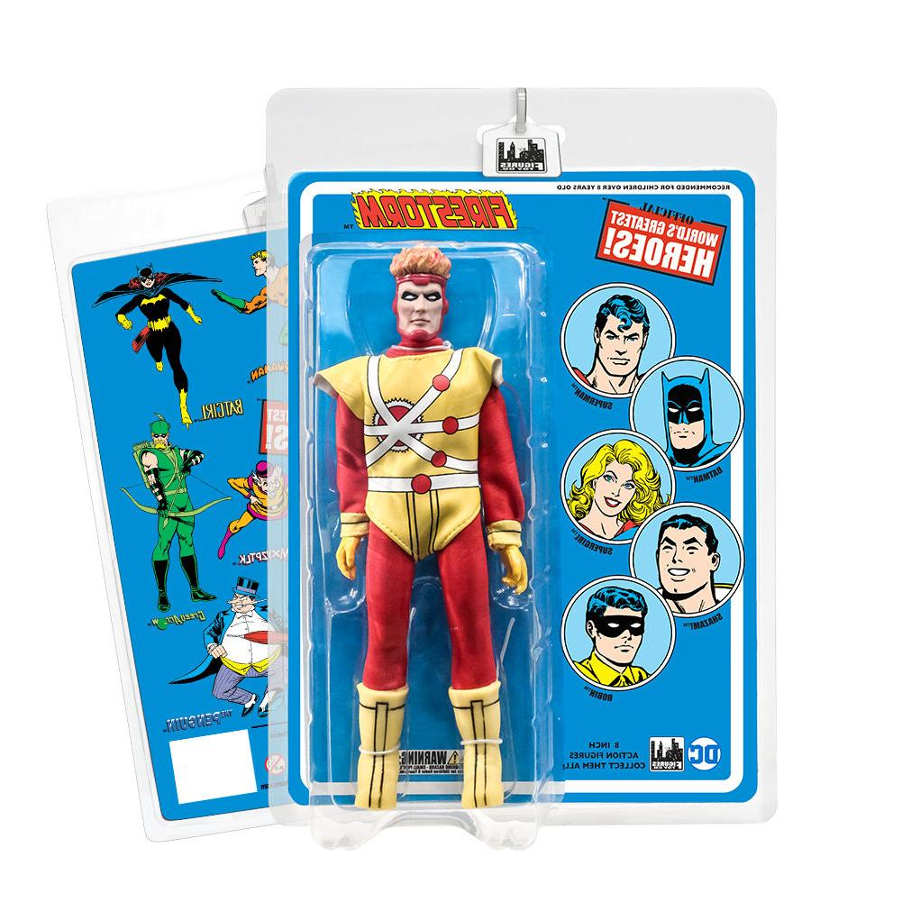 DC Comics 8 Inch Action Figures With Mego-Like Retro Cards: