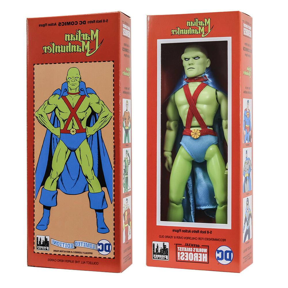 DC Comics Mego Style Boxed 8 Inch Action Figures: Martian Ma