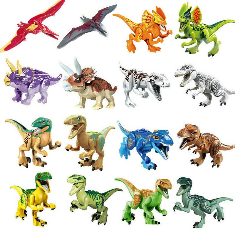 Dinosaur Rex Tyrannosaurus Jurassic World Park 16Pcs Minifig