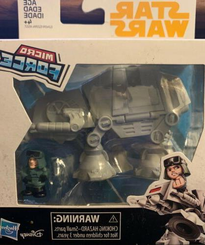 disney atat with commander micro force toy