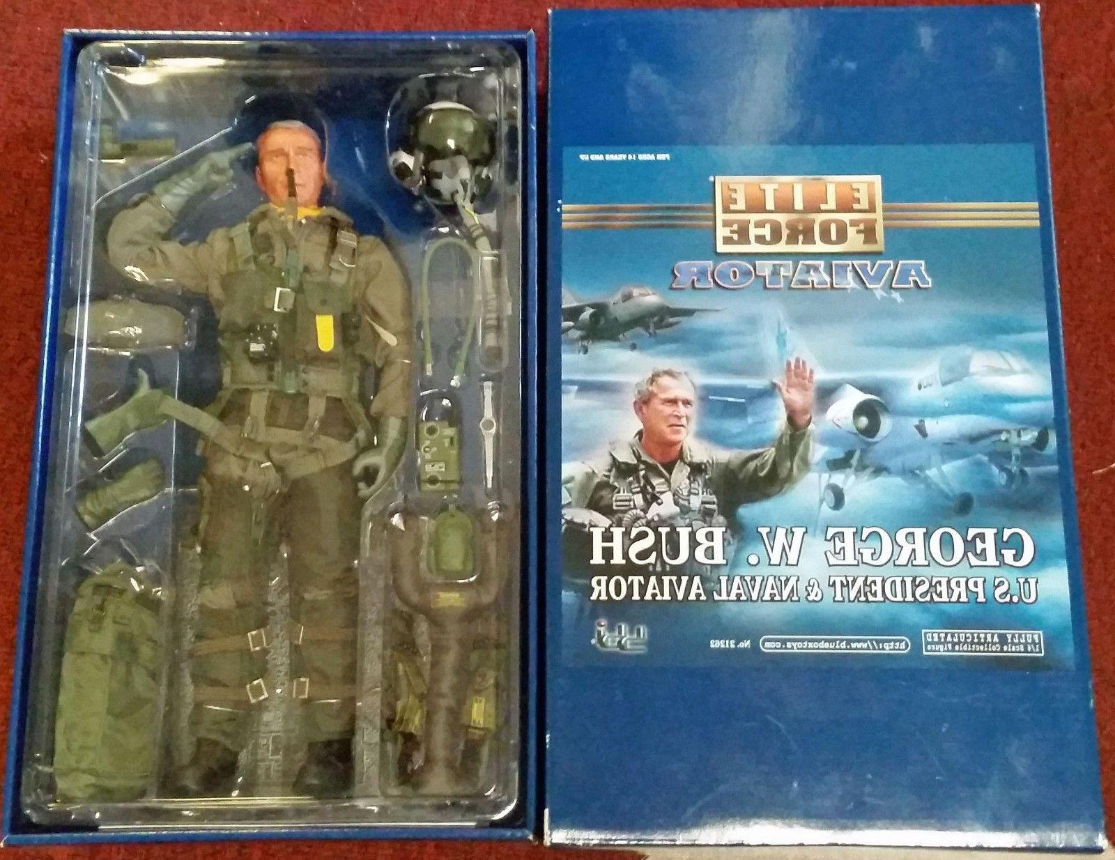 Blue Box Elite Force George Bush Naval Aviator #21262 12 Inc
