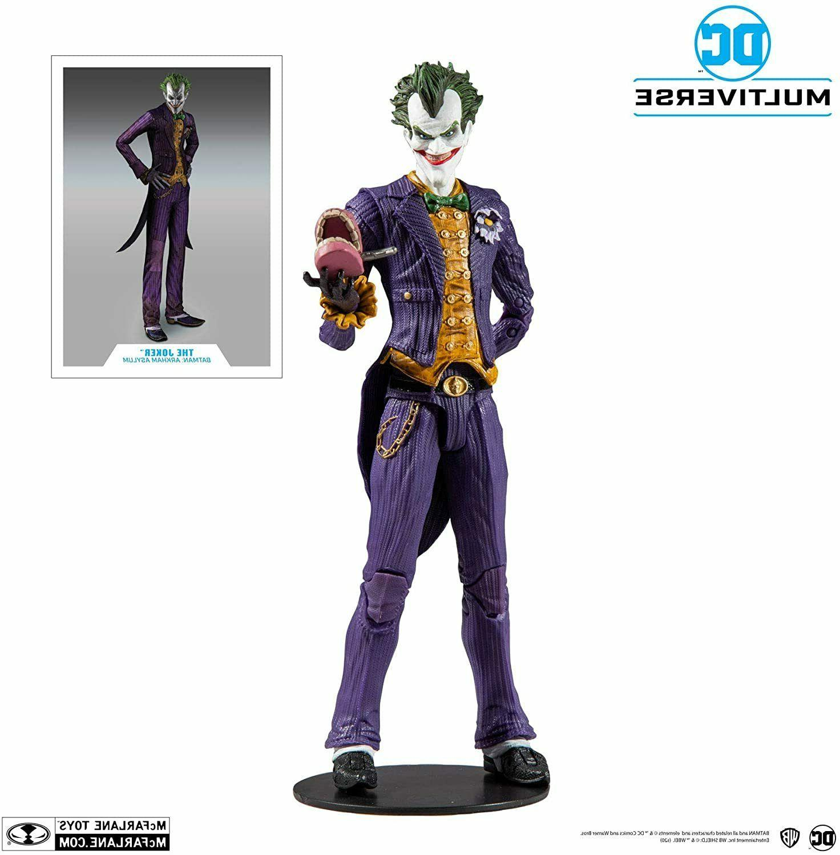 McFarlane Arkham DC Multiverse Joker Figure Case Stock
