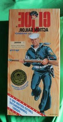 """GI JOE ACTION SAILOR  12"""" ACTION FIGURE HASBRO NEW NRFB 1995"""
