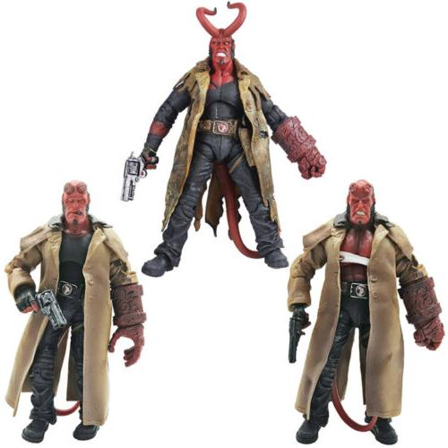 "MEZCO HB Series 2 Wounded Hellboy 7"" PVC Action Figure Colle"