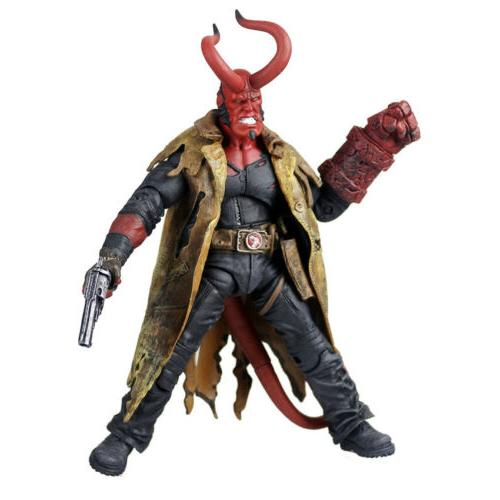 "Mezco Hellboy Battle HB 7"" Exclusive 1/12 Scale Doll"