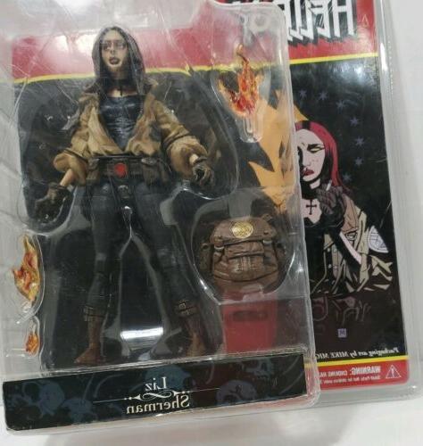 Mezco Hellboy Sherman Action Mignola comic book figurine