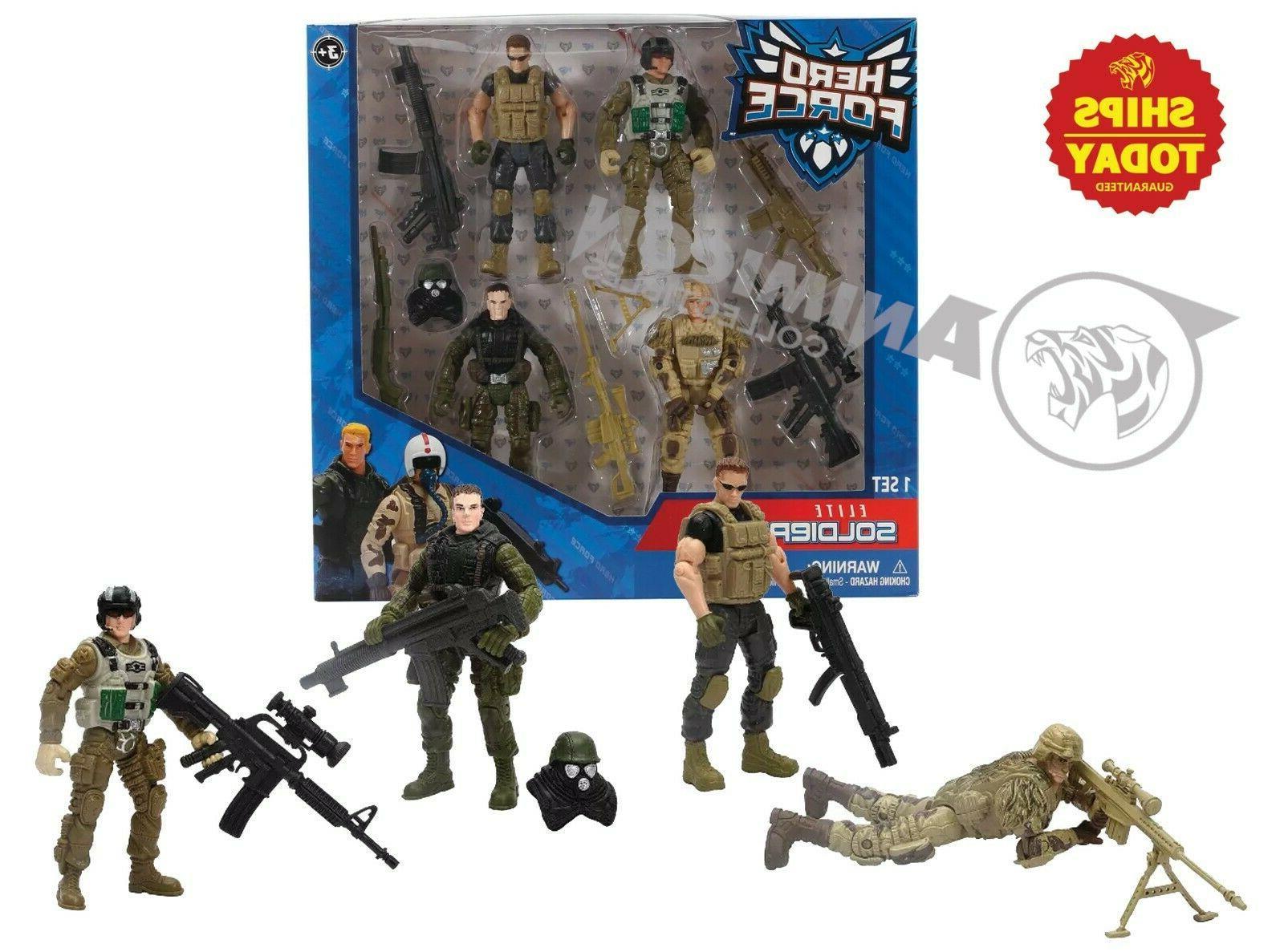 Hero Force ELITE SOLDIERS True Heroes 4 Soldier Pack 2 Actio