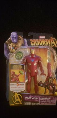 iron man figure with infinity stone marvel
