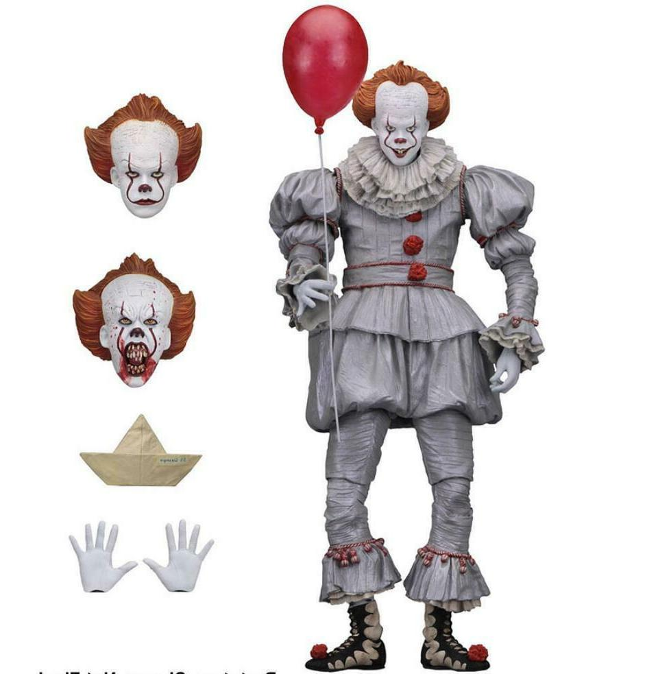NECA IT Bloody Pennywise Clown Action Figure Movie Doll Scale Toy