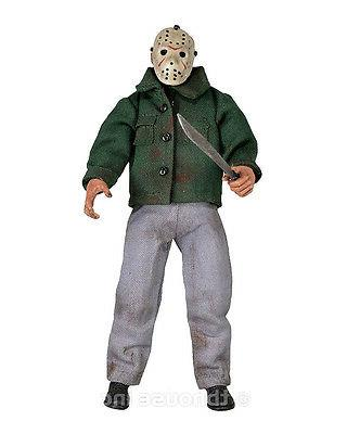 """8"""" VOORHEES RETRO-STYLE CLOTHED FRIDAY THE 13TH doll"""