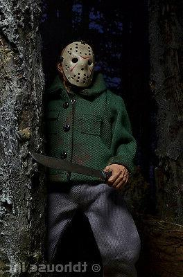 """8"""" VOORHEES figure RETRO-STYLE CLOTHED series FRIDAY THE 13TH"""