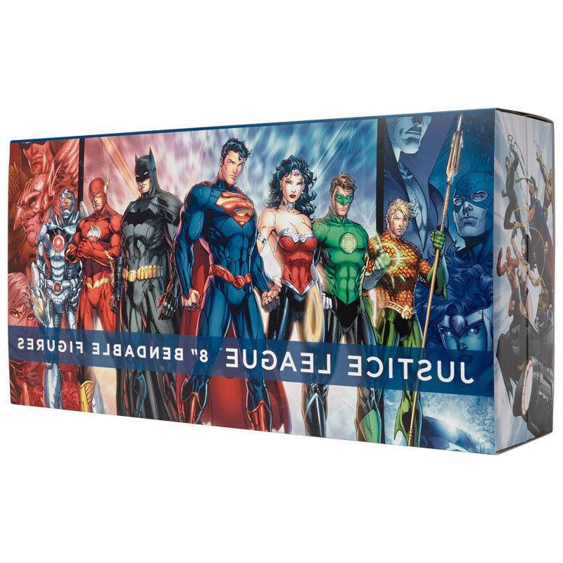 justice league bendable figure set